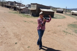 Location scout for catalog shoot in the Old Western Town at Bonaza Creek Ranch, Santa Fe, New Mexico.
