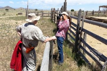 Location scout for catalog shoot of the Ranch House at Bonaza Creek Ranch, Santa Fe, New Mexico.