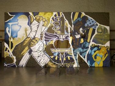 Bon Jovi Image by Liu Bolin Mural Illustration by Alex Haldi